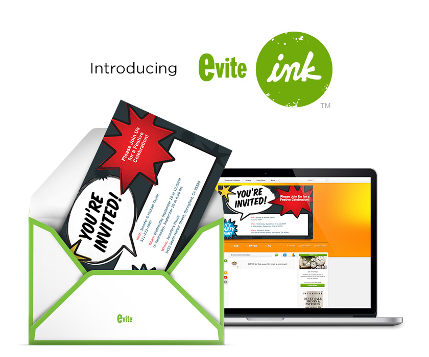 Evite Offers Online Print Mail On