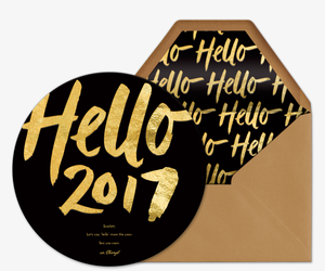 Hello 2017 Invitation