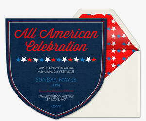 Badge of Honor Invitation