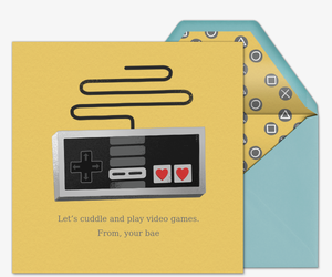 Video Game Love Invitation