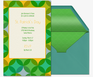 Colorful Clovers Invitation