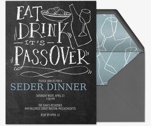Eat, Drink, It's Passover Invitation