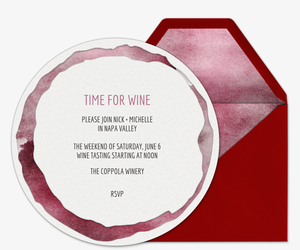 Time for Wine Invitation