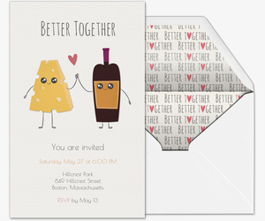 Wine Cheese Invite Invitation