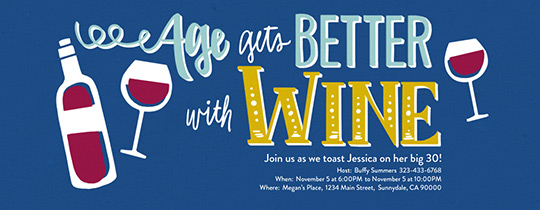 Age With Wine Invitation