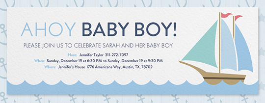 Ahoy Baby Shower Invitation
