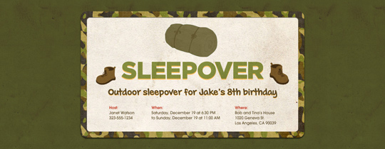 army, boy scouts, camo, camoflauge, fatigues, sleeping bag, sleepover