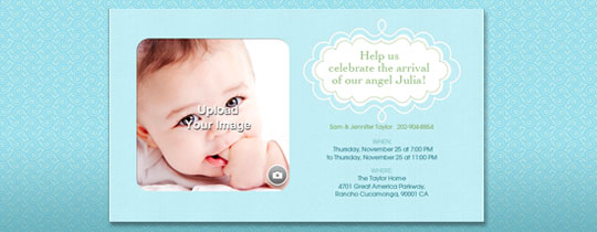 Baby Blue  Invitation
