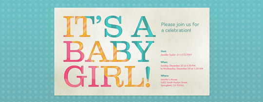 baby, baby shower, girl, it's a girl