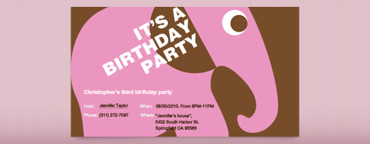 birthday, birthday party, elephant, kids party