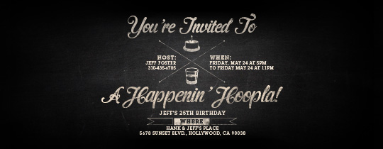Birthday Chalk Invitation