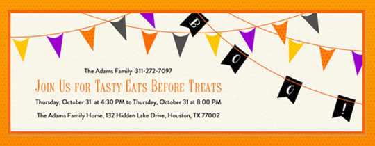 boo, bunting, garland, halloween, trick or treat, trick or treating