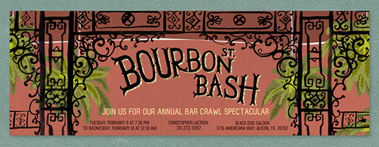 Bourbon Street Bash Invitation