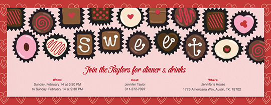 Box of Chocolates Invitation