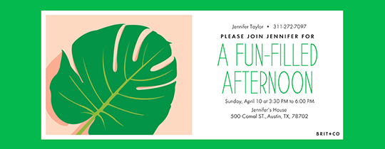 Palm Leaf Invitation