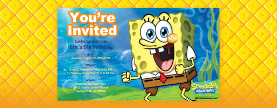 sponge bob, kid's birthday