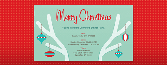 Christmas Branches Invitation