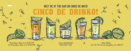 Cinco de Drinko Invitation