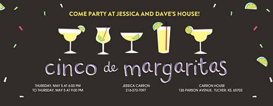Cinco de Margaritas Invitation