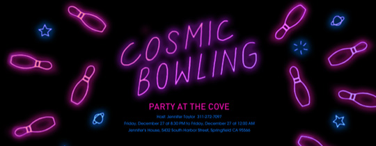 Cosmic Bowling Invitation