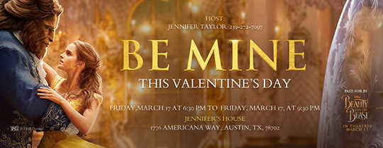 Be Mine Invitation