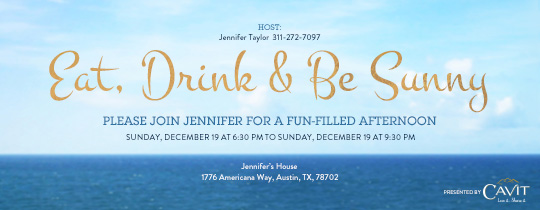 Eat, Drink and Be Sunny Invitation