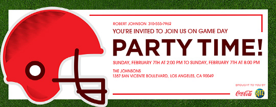 Game Helmet Invitation