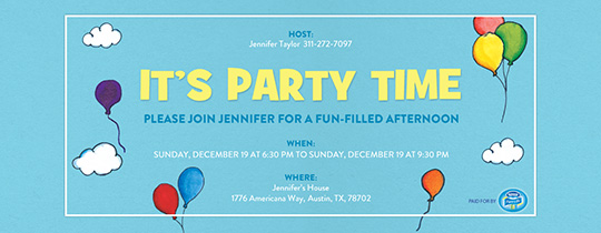 Birthday for Kids free online invitations – Online Party Invites