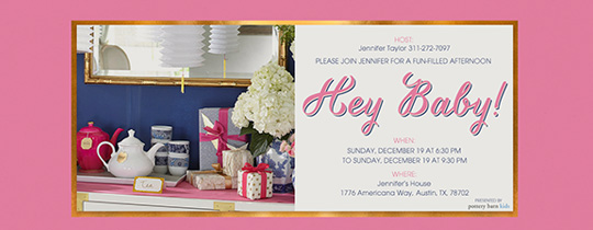 Hey Baby Invitation