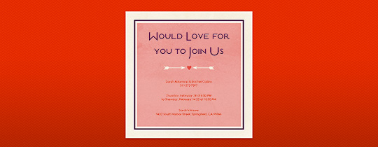 Cupid's Arrows Invitation