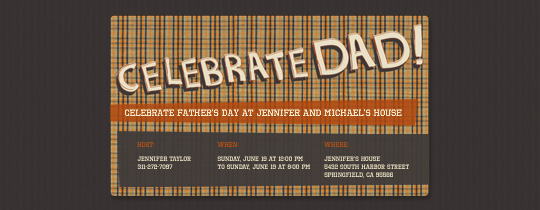 Dad Plaid Invitation