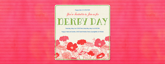 Derby Day Flowers Invitation
