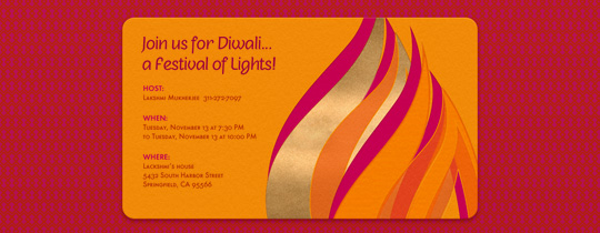 Diwali Flame Invitation