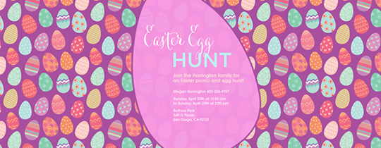 Egg and Seek Invitation