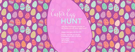 Egg and Seek Invitation
