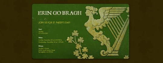 Erin Go Bragh Invitation