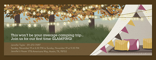 Fall Glamping Invitation