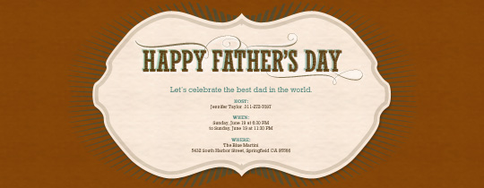 Father's Day Frame Invitation