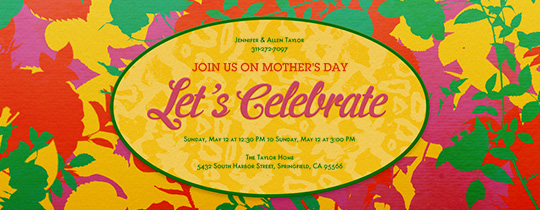 celebrate, floral, flower, flowers, leaf, leaves, let's celebrate, mom, mother, mother's day, spring