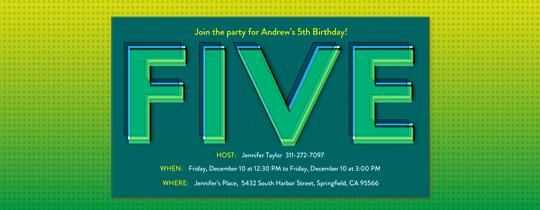 5, 5th birthday, birthday, fifth, fifth birday, five, green
