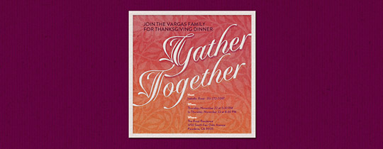 Gather Together Invitation