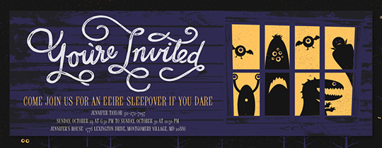 Glowing Eyes Invitation