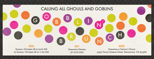 brunch, gobblin, halloweek, halloween