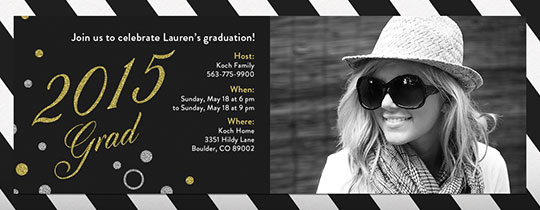 gold, stripes, graduation, uyo, photo invite, silver, grad, photo, upload, picture, 2015,