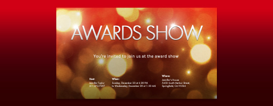 Gold Lights Invitation
