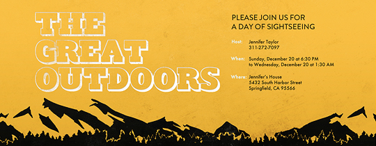 Great Outdoors Invitation