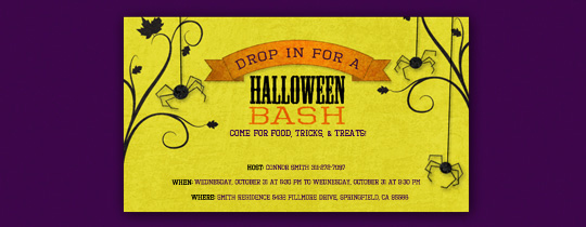Halloween Bash Invitation