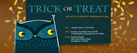 halloween, halloween party, owl, trick or treat, trick or treating