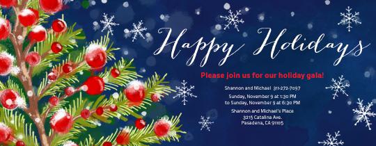 Happy Holiday Tree Invitation