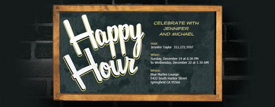Happy Hour Board Invitation